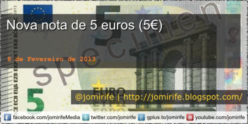 Blog Post: Nova nota de 5 euros (5€)