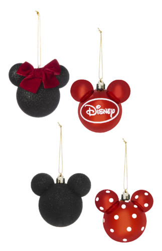 Kimball-3189901-Mickey and Minnie 4PK Decorations,