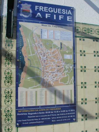 mapa de afife JUNTA,COLOCOU MAPA INFORMATIVO   AFIFE DIGIT@L jornal on line de Afife mapa de afife