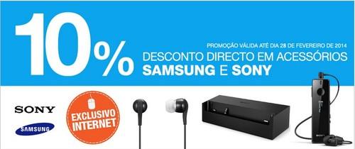 10% de desconto direto | EL CORTE INGLÉS | Acessórios, Samsung e Sony
