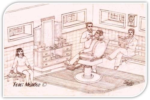 Cerva - Barbearia António Mendes - 1973
