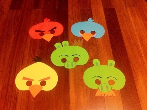Festa Angry Birds - máscaras