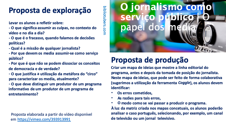 Aprender nos media | O jornalismo como serviço público