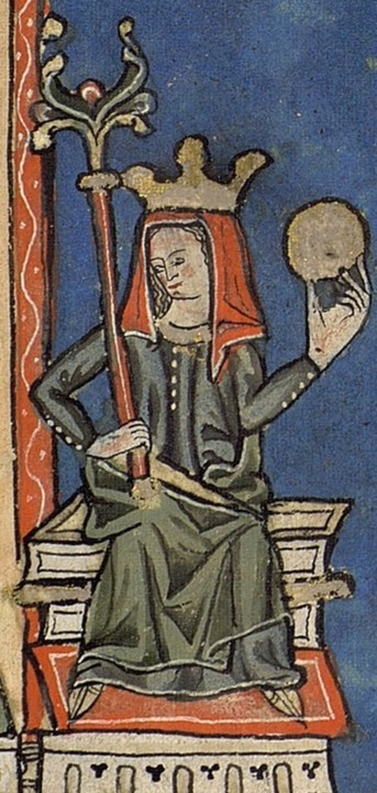 Teresa de Leão em miniatura medieval de manuscrit