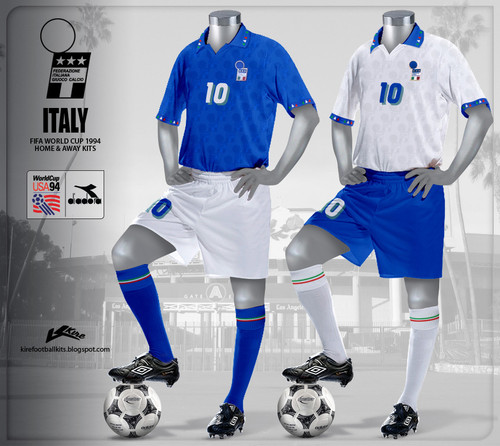 Italy Home and Away Kits World Cup 1994.jpg