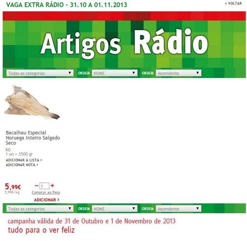 Artigo Rádio | JUMBO | até 1 novembro