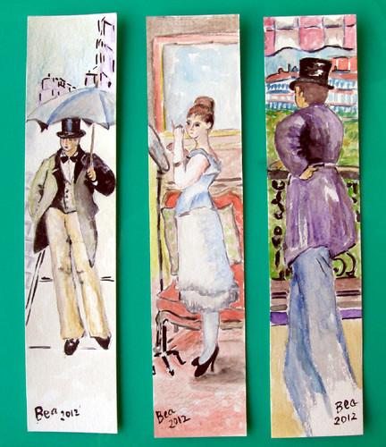 Marcadores de Livros com toque Impressionista