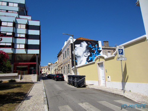 Arte Urbana by Eime - Rosto a olhar o céu na Figueira da Foz Portugal (2) [en] Urban art by Eime - Face looking at the sky in Figueira da Foz, Portugal