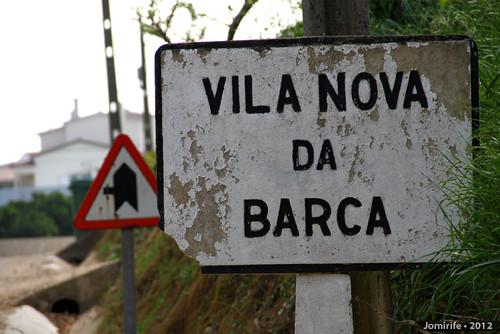 Placa antiga de Vila Nova da Barca (Coimbra) (1)