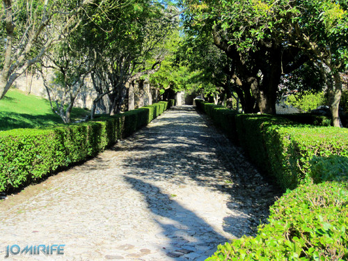 Castelo de Montemor-o-Velho - Caminho de pedras da entrada [en] Castle of Montemor-o-Velho in Portugal