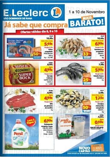 Antevisão Folheto | E-LECLERC | S. Domingos de Rana, 1 a 10 Novembro