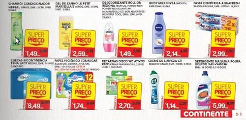 super preço continente higiene acumulação