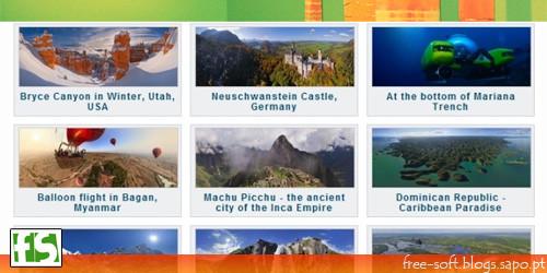 Fotografias panorâmicas de locais de todo o mundo