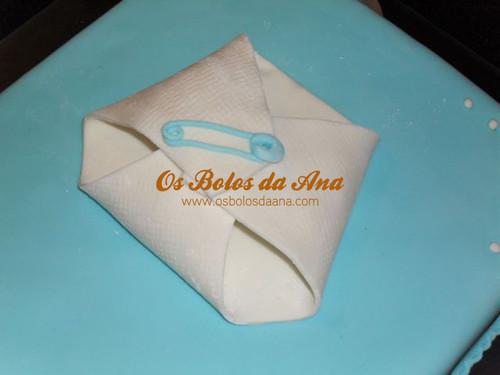 Bolo Artistico Batizado com Fraldinha