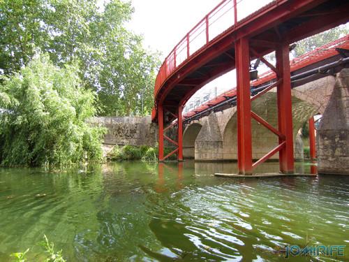 Jardim do Polis Leiria (Oeste) - Ponte vermelha (2) [en] Polis Garden of Leiria, Portugal