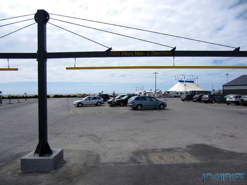 Figueira da Foz: Estacionamento de Carros no Parque das Gaivotas é pago (3) Entrada [en] Car parking in Seagull Park is paid in Figueira da Foz, Portugal