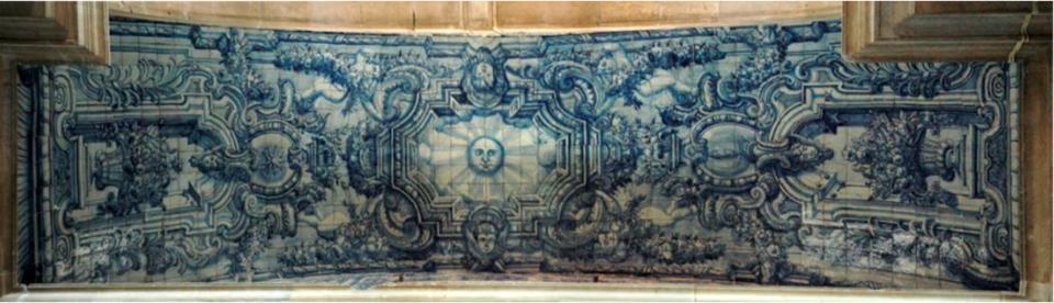 Painel de azulejos, abóbada Norte da capela-mor-