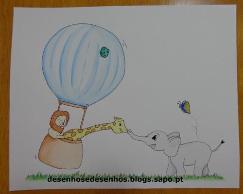 ilustração a aguarela