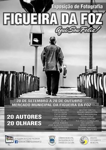 Exposição coletiva de Fotografia «Figueira da Foz, aqui sou feliz» - Flyer