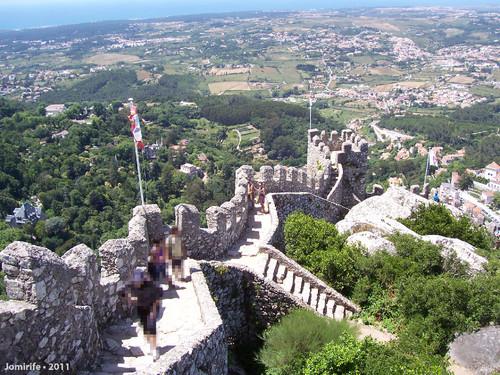 Sintra: Castelo dos Mouros - Muralha e vista