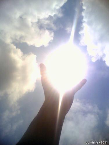 Bola de energia na minha mão