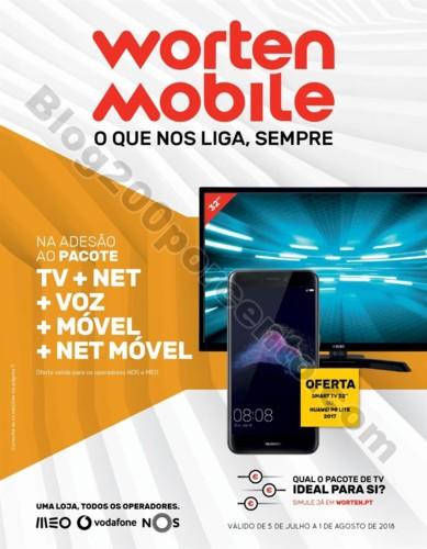 Novo Folheto WORTEN Mobile Promoções até 1 agos