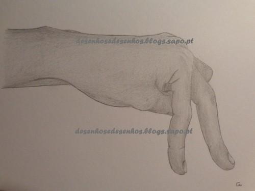 desenho mão passos