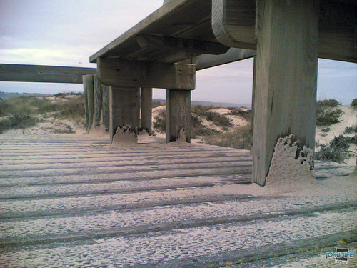 Temporal na praia do Cabedelo - Formas da areia