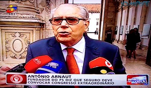 António Arnaut na TV na Universidade de Coimbra