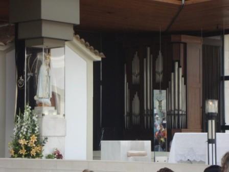Nossa Senhora na Capelinha das Aparições em Fátima