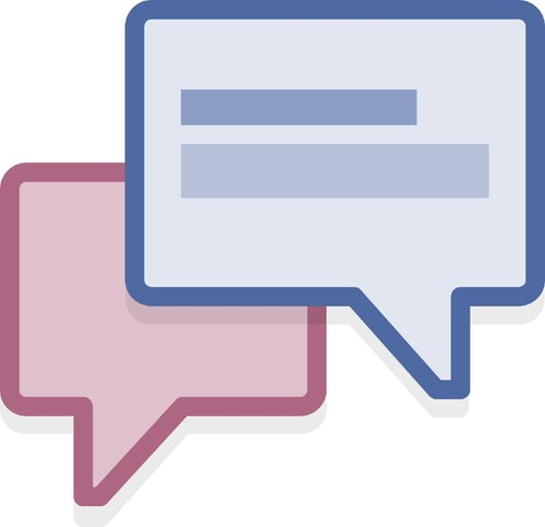Imagem do ícone dos serviços de mensagens do Facebook.