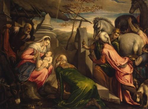 adoracao dos magos -  Francesco Bassano - 1567-69.