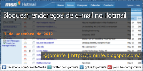 Blog Post: Bloquear endereos e-mail no Hotmail
