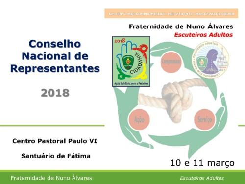 Conselho Nacional de Representantes Fátima 2018 A
