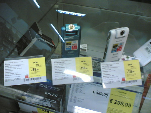 Sony Bloggie MHS-PM5: Na vitrine