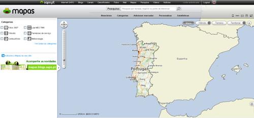 SAPo mapas