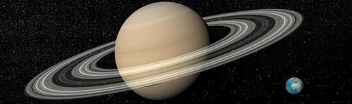 Saturno e Terra