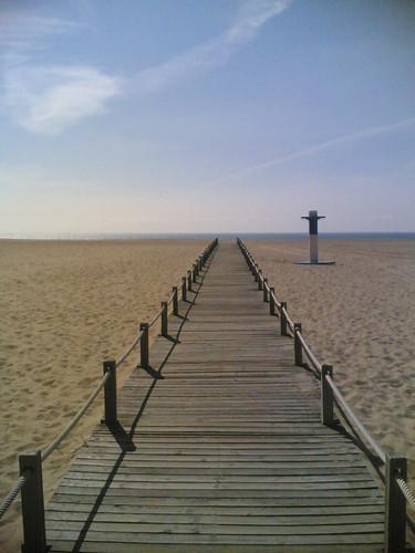 Passadeira até à praia da Figueira da Foz