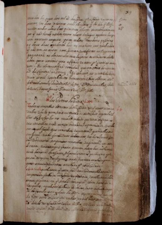 Livro I da Correia, pormenor do item Dos juizes do