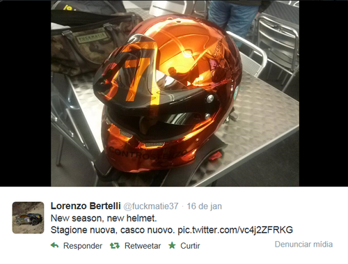 O novo capacete de Lorenzo Bertelli...