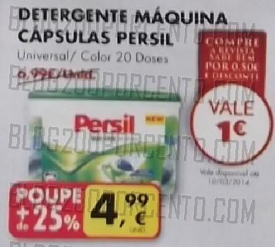 Acumulação 25% + Vale   PINGO DOCE   Persil de 7 a 13 janeiro