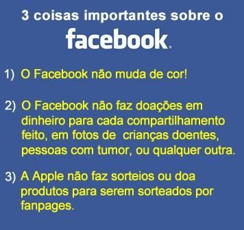3 Coisas importantes sobre o Facebook