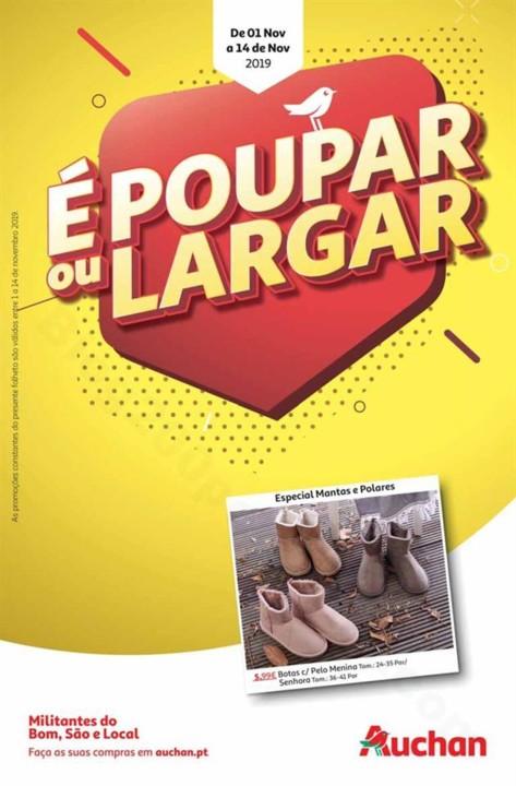 Antevisão Folheto AUCHAN Poupar ou Largar Promoç