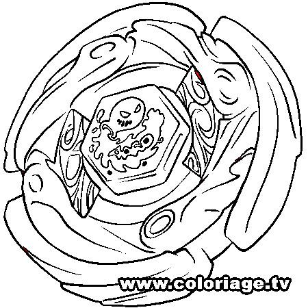 Beyblade para colorir - Coloriage toupie beyblade ...