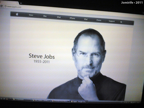 Rip Steve Jobs (1955-2011) in the site Apple.com