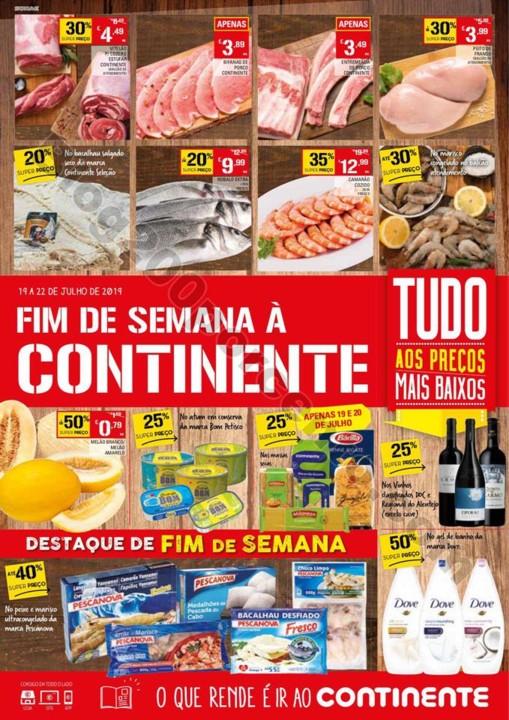 Folheto fim de semana continente 19 a 22 julho p1.