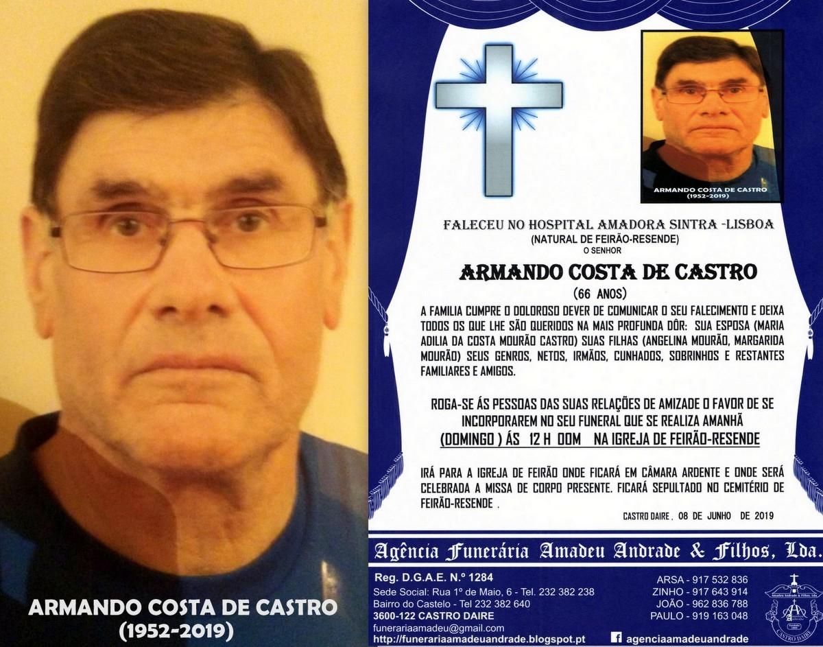 FOTO RIP DE ARMANDO COSTA DE CASTRO -66 ANOS (FEIR