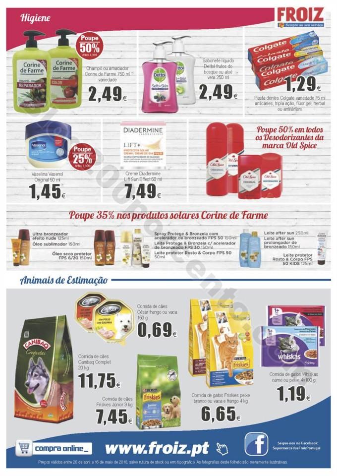 Antevisão Folheto FROIZ Promoções de 26 abril a