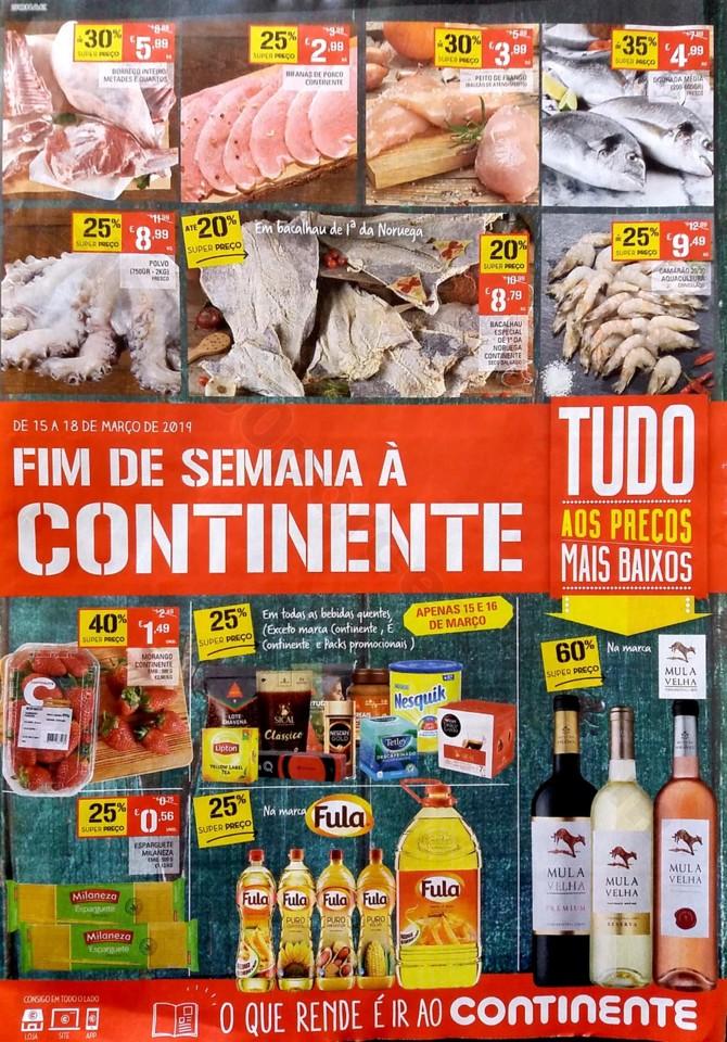 Antevisão Folheto Continente Fim Semana 15a18mar