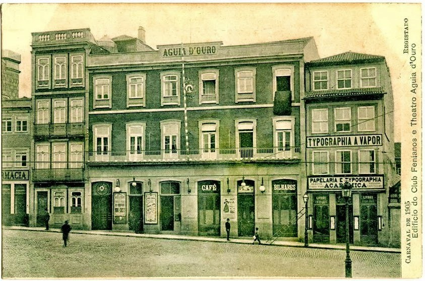 Café Aguia d'Ouro.Carnaval de 1905  -  edificio d